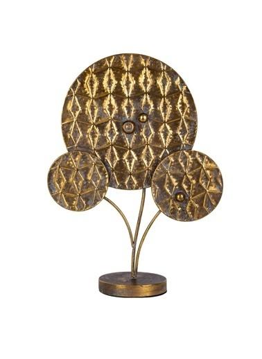Acar Altın Eskitme Standlı Dekor 61Cm Altın
